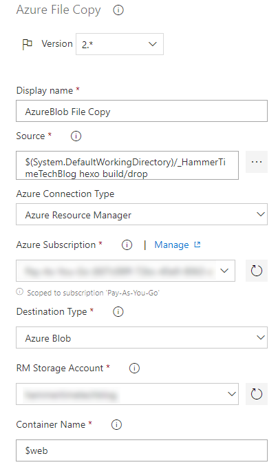 Configure Azure File Copy